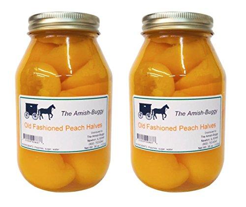 Amish Old Fashioned Peach Halves - TWO - 32 Oz Jar ()
