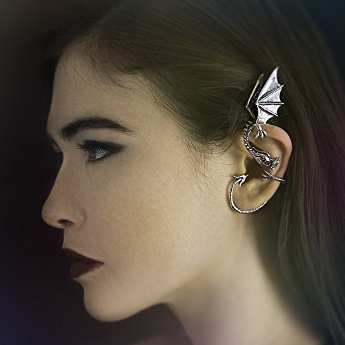 Dragon Ear Cuff - Dragon Ear Wrap Dragon Ear Cuff Silver Elfin Dragon Ear Wrap Dragon Jewelry Game of Thrones Inspired Non-Pierced Earring Bling Jewelry Celeb