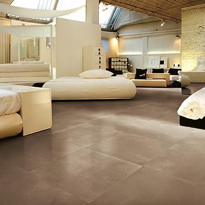 Samson 1005290 Genesis Matte Floor and Wall Tile, 12X12-Inch, Avana, 12-Pack