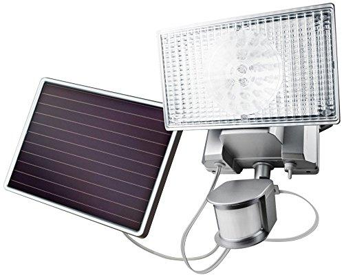 Silver Solar 100 LED Outdoor Security Flood Light by Maxsa Innovations