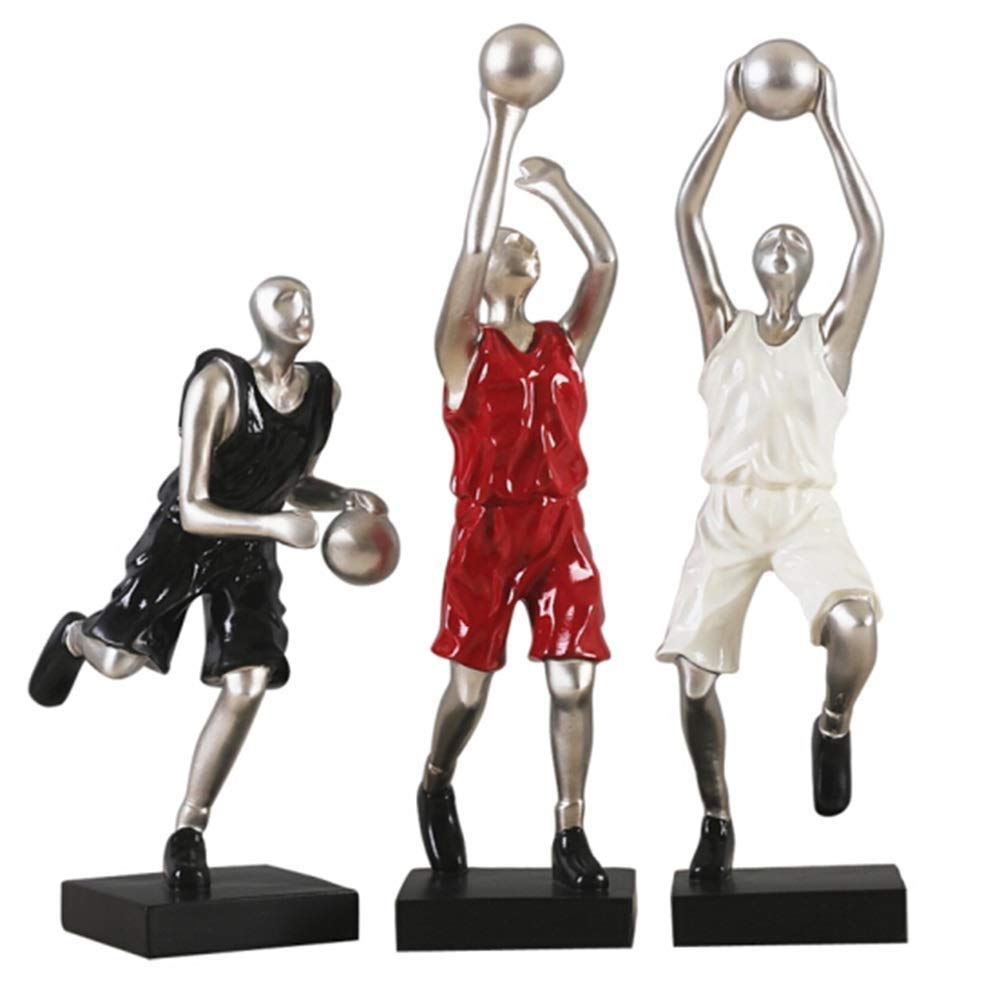 Lcxghs Personalidad Simple Resina Artesanías de Baloncesto Regalo ...