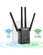 WAVLINK AC750 Wifi Range Extender Repeater/Access Point/Wireless Router/With 3 External Antennas Dual Band 5GHz + 2.4GHz with WPS -Black