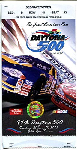 NASCAR Daytona 500 Ticket Stub 2/17/2002-Daytona Int'l Speedway-Waltrip #15-FN - Daytona 500 Tickets