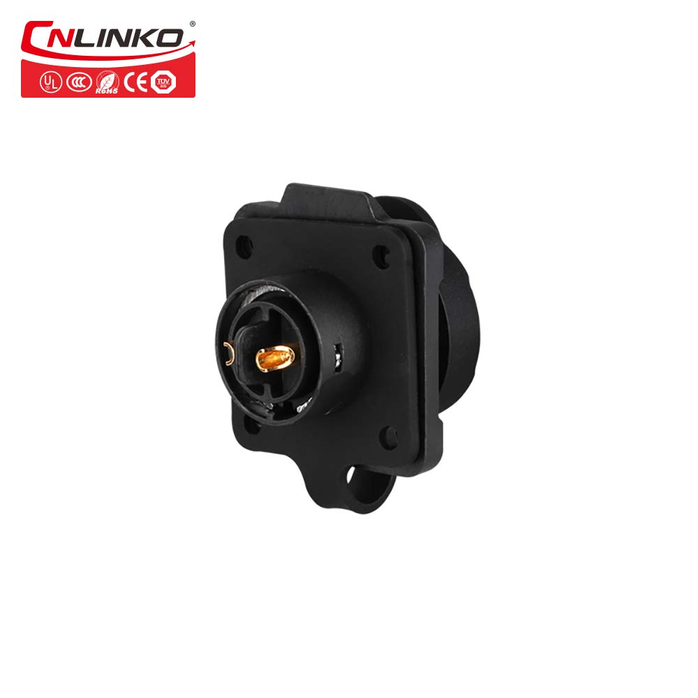 Cnlinko M16 10A 2pin Cable Circular Connector Male Female Waterproof IP65 Power connectors Automation Power Connector