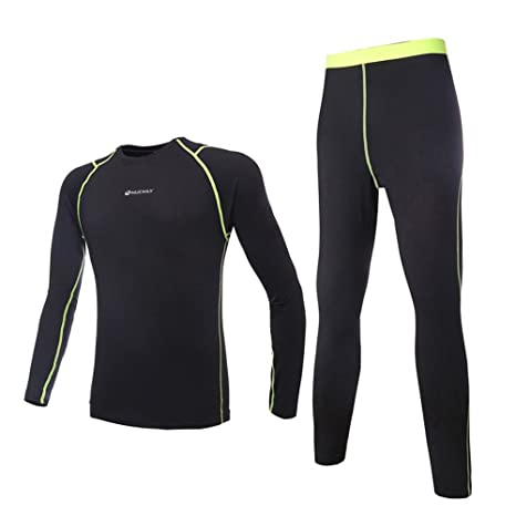 19c498fff NUCKILY Men s Cycling Fleece Thermal Long Jersey With Pants Set Winter  Clothing Black Small