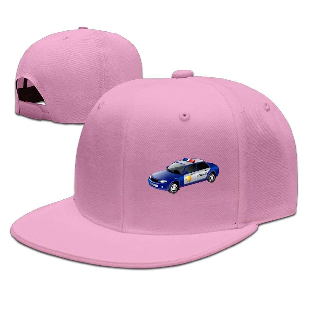 Judaho Blue Police Car Unisex Snapback Adjustable Flat Bill Baseball Cap