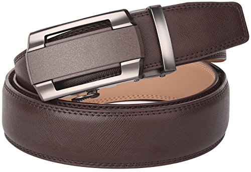 Terse Mens Leather Ratchet Belt for Men Dress 1 3/8, Adjustable by Trim to (50% Off Leather)