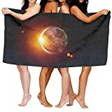 Solar Eclipse Sun Luxury Bath Towel Hotel & Spa Extra-Absorbent Towel 31.5 X 51.2 for Beach & Bath
