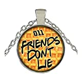 Stranger Things Necklace Pendant - Eggo Waffle - Netflix TV Series Eleven Charm Cosplay by Athena Brand