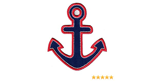 9x 3-colors Anchor Design Embroidered Patches Sew on Craft DIY Clothes Hat Decor