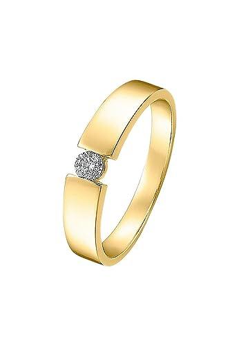 Christ Diamonds Damen Ring 585er Weissgold 1 Diamant Ca 0 10 Karat