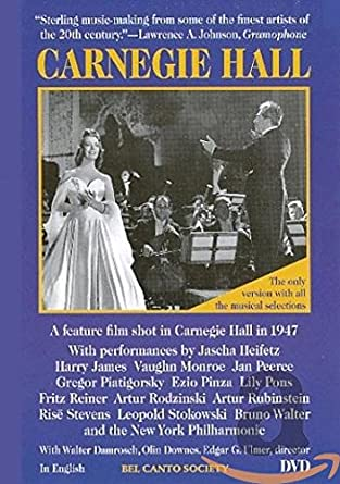 Amazon Carnegie Hall Jan Peerce Lily Pons Jascha Heifetz Classy Archie Johnson And Sons Sewing Machine
