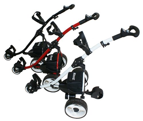 Kolnex Electric Golf Caddy, Trolley, Cart with Complete Remote Control - Model C1001 - White frame.