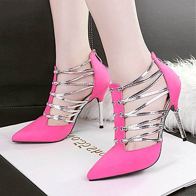 LvYuan Spring Winter Dress uk3 5 amp; Fall Summer fuchsia Casual cn35 Party us5 5 Wedding Leatherette Women's Comfort ggx eu36 Evening Novelty Heels Gladiator rtnYrq