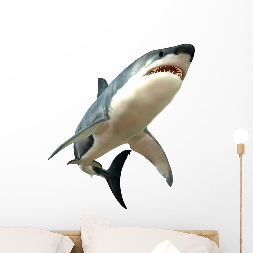 Wallmonkeys Great White Shark Body Wall Decal Peel and Stick Graphic WM289167 (24 in H x 24 in W)