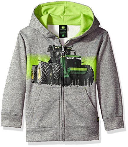 John Deere Tractor Little Boys Pullover Fleece Hoody Sweatshirt