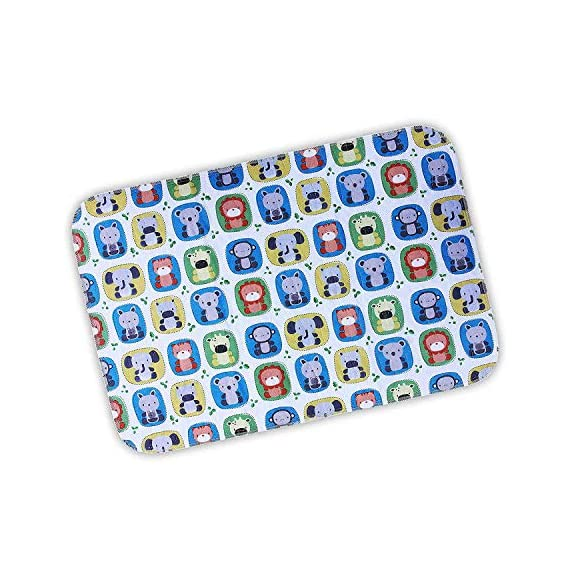 Lessy Messy Reusable Quickdry Waterproof Supersoft Baby Sleeping/Changing Mat (75cm*50cm - Medium Size -Animal Print)