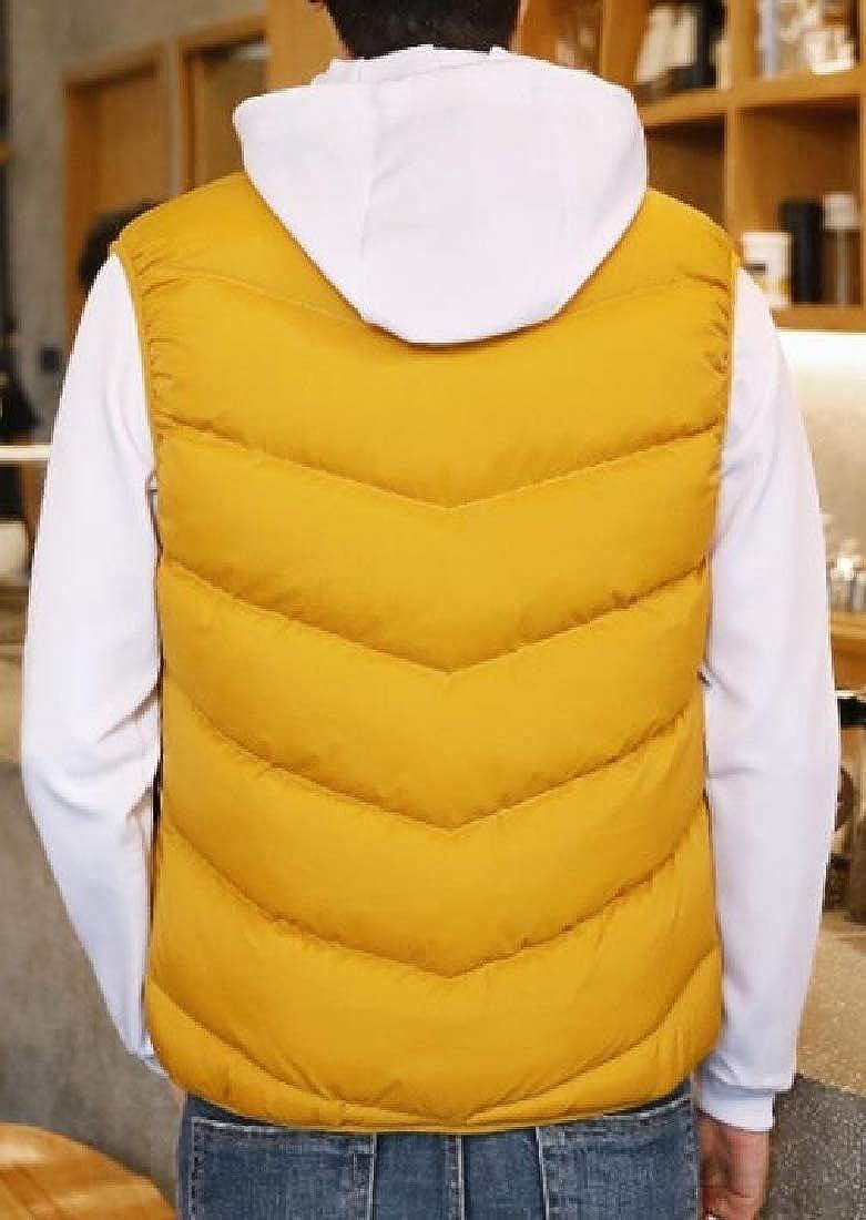 Yayu Mens Lightweight Puffer Vest Padded Vest Hooded Outwear Down Vest Jacket