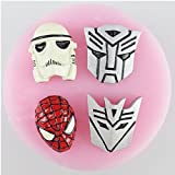 Transformers, Star Wars and Spider man Hero Silicone Mold For Fondant Cake , SugarCraft, Chocolate molds, Cupcake Decoration Tools and more