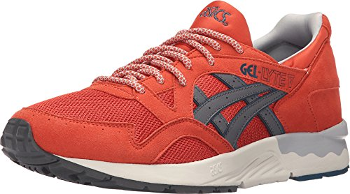 ASICS H6A2Y-2411:Gel-Lyte V 5 Chili/Grey Premium Comfort Youth/Adult Sneaker (6 D(M) US Men)