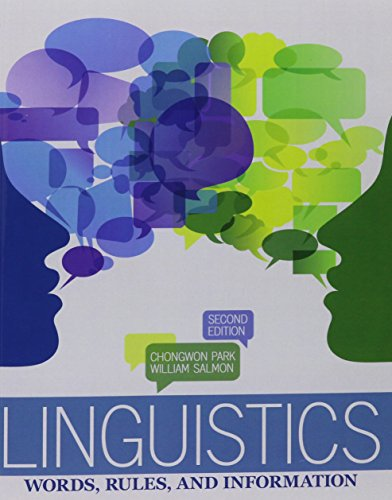 Linguistics: Words, Rules and Information
