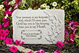 Kay Berry Inc Your Memory is My Keepsake. 15'' x 10'' Rectangle - Personalized Memorial Stone - Fused Glass Stone