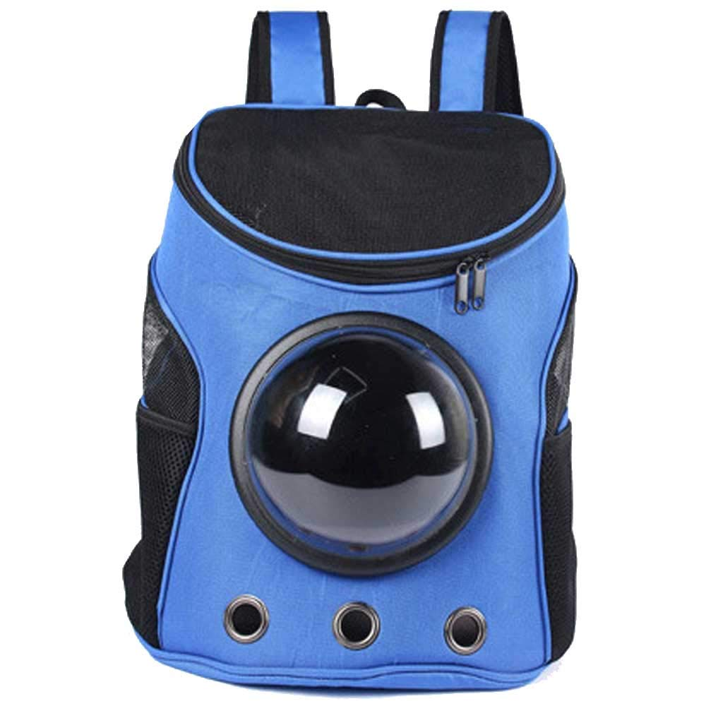 Pet Backpack Light and Breathable Travel Hiking Camping bluee Hands-Free Space Cat and Dog Backpack