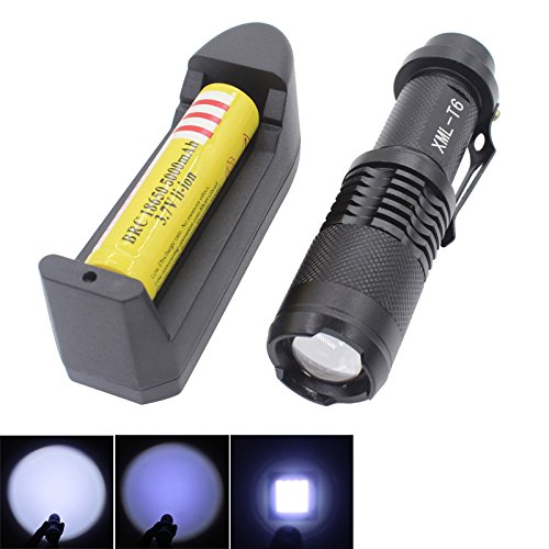 5000 Lumens 5 Modes XML T6 LED Flashlight Torch Lamp(1pc) - 7
