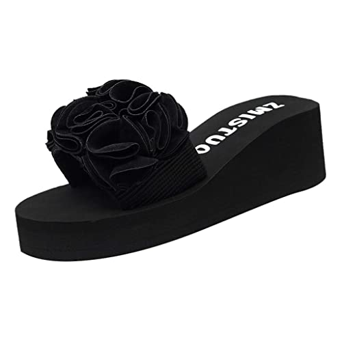 978f8ae85 Boomboom Women Sandals Women Wedges Sandal Bohemian Fashion Sandals Black  Rubber Thongs Slippers  Buy Online at Low Prices in India - Amazon.in
