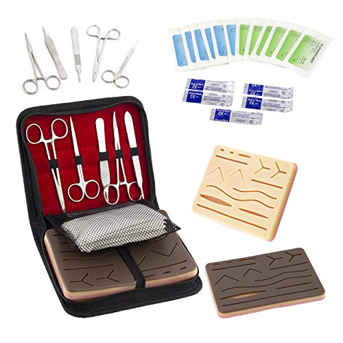- GA² Practice Suture Kit (25-Pc. Set) 2 Self-Healing Suturing Pads with Mesh Lining, Forceps, Scissors, 12 Filaments, 5 Blades   Nurse, Med Student Veterinarian Training   Storage Case