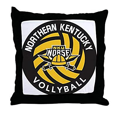 Pattebom Northern Kentucky Nku Norse Volleyball Throw Pillo Canvas Throw Pillow Covers 18 x 18 Home Decor Farmhouse Throw Pillows Case Cushion Covers Decorative for Gifts