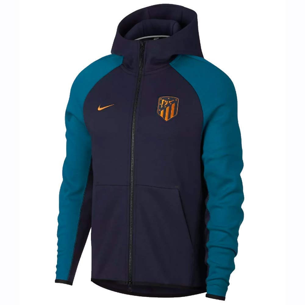 Nike 2018-2019 Atletico Madrid Techfleece Authentic Hoody (Obsidian)