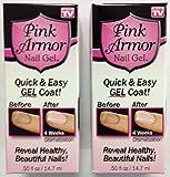 Set of 2 Pink Armor Nail Growth Formula Treatments, 0.50 Fluid Ounce