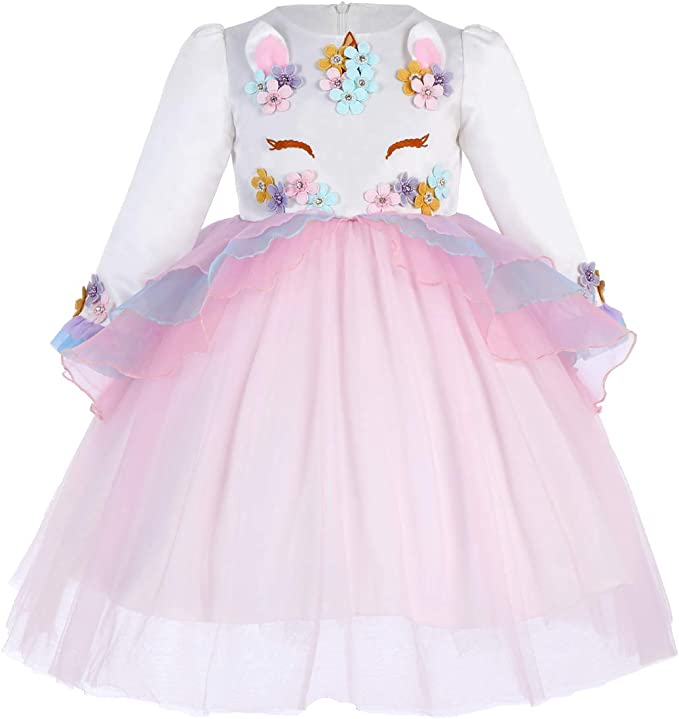 IWEMEK Princesa Bebé Niña Vestido Unicornio Cumpleaños Disfraz de ...