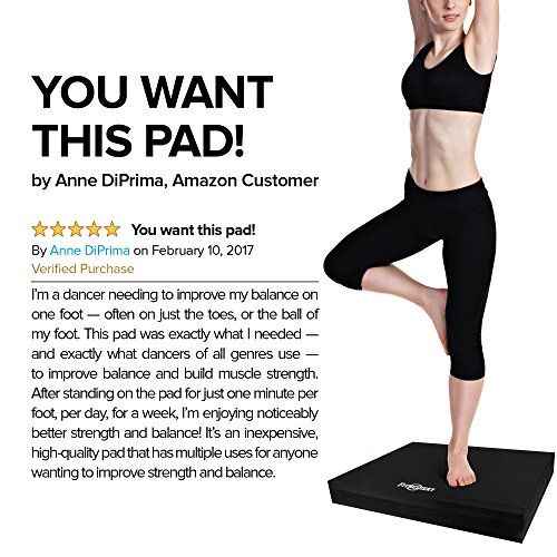 Balance Pad, Balance Trainer for Stability Balance Board for Rehab, Use as Foam Mat, Foam Pad for Physical Therapy, Kneeling Pad with Foam Padding, Wobble Cushion Dimension: 20x16x2.5 inch (Black)