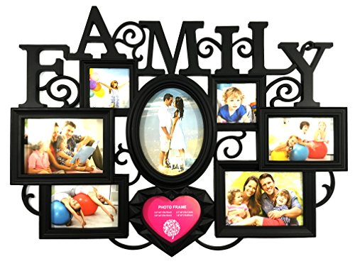 BestBuy Frames Family Collage Picture Frame with 8 Openings(2- 4x4 Inch, 2- 6x4 Inch, 2- 7x5 Inch, 1- 6x8 Inch)