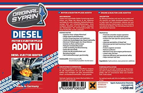 Original syprin additiv Diesel para motores diesel Diesel Sistema inyectores diesel extractor de inyector diésel de additive combustible additiv limpiador ...