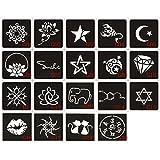 1 Pcs Henna Stencil Body Art Temporary Tattoo Sticker by Team-Management