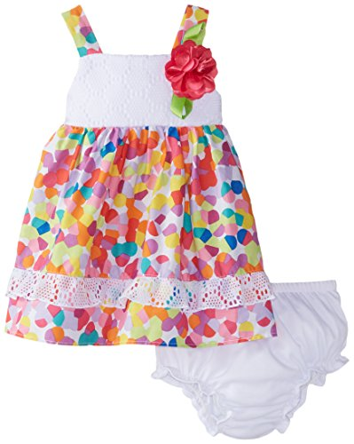 Sweet Heart Rose Baby Girls' Blurred Dot Printed Dress, Multi, 18 Months