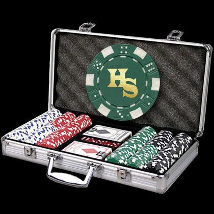 300 Personalized Poker Chip Set - Full Name, Initials or Any Custom Text