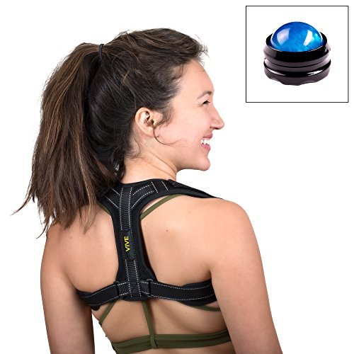 Vive Posture Corrector for Women & Men – Maximum Result Back Posture Brace for Effective & Comfortable Posture Correction Under Clothes ! by VIVE