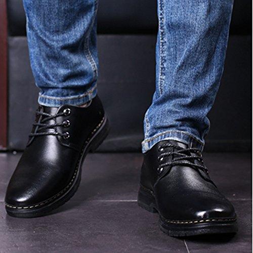 Da Derby Lavoro In Stringate Da Pelle Per Libero Uomo Antiscivolo Uomo Black Scarpe Formali Il Da Lavoro Scarpe Tempo Da fYAI7