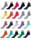 ComfortNFashion Women's Low Cut Socks Multi Pack- 20 Pairs (9-11 (Regular- Women's), Solid (2063-4))