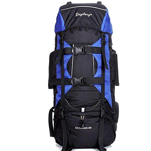 BUSL Los hombres y las mujeres bolsas de aire libre del alpinismo 80L de gran capacidad mochila bandolera mochila de viaje