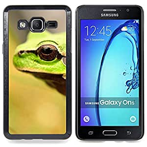Frog Eye Cute Blurry Summer Sun Forest Caja protectora de pl??stico duro Dise?¡Àado King Case For Samsung Galaxy On5 SM-G550FY G550