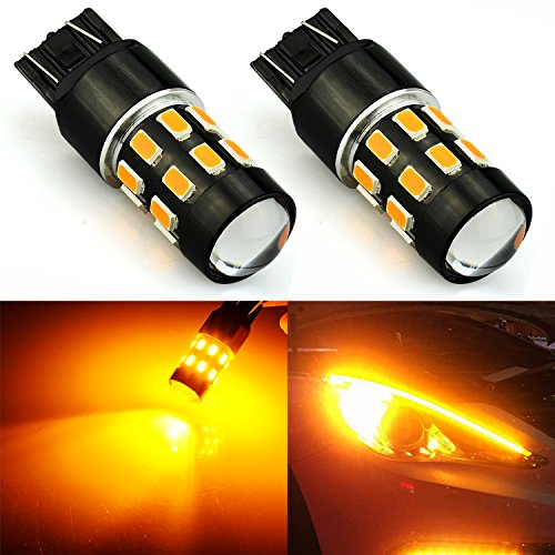 JDM ASTAR Super Bright 5730 Chipsets 7440 7441 LED Bulbs with Projector,Amber Yellow