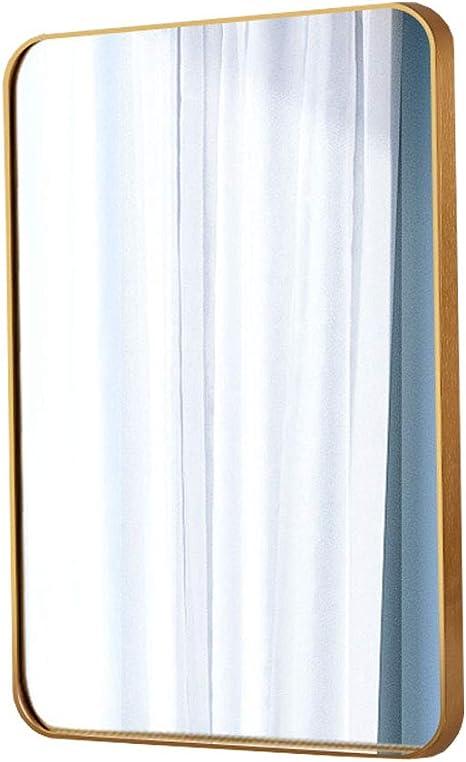 for entradas ba/ños Salas de Estar y m/ás Espejo Rectangular for ba/ño Nordic Montado en la Pared//Espejo de Afeitar con Marco de Metal Dorado//Espejo Decorativo de Gran tama/ño for Maquillaje