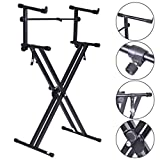 Pro Adjustable 2-Tier X Style Dual Keyboard Stand - By Choice Products