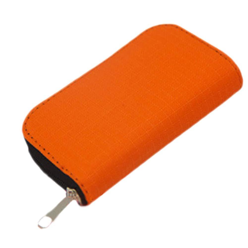Myymee 4 Porte-Cartes CF et 18 Porte-Cartes SD /Étui de Rangement pour t/él/éphone Portable pour Carte m/émoire SD Orange