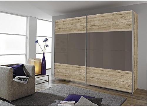 Salida de humos de puertas correderas de armario de decoración de madera de roble de colour claro + brillante. Lava de colour gris, B/H/T CA. 181X210X57: Amazon.es: Hogar